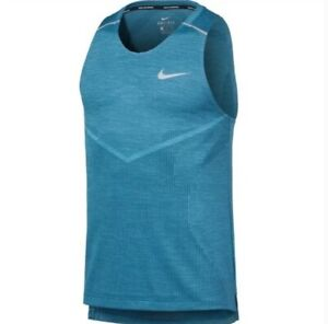 NIKE TechKnit Cool Ultra Running Tank Top Blue Men's Size XL *NEW* AJ7589-304