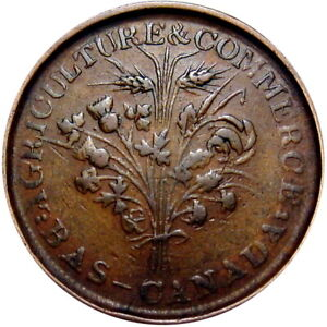 Montreal Canada Bouquet Sou Token Breton 688 Very Late Die State