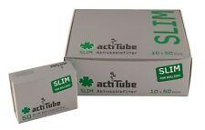 500 actiTube Slim 7mmØ Aktivkohlefilter für Pfeifen NEU 10x50 - 1 Display