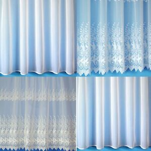 WHITE / CREAM VOILE NETS SOLD BY THE YARD, PLAIN FLORAL - FREE POSTAGE