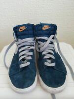Womens Nike Blazer Blue Suede Uk Size 1.5 Eu Size 33.5 Us Size 2