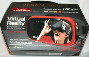 Tzumi Dream Vision Virtual Reality VR Smartphone Headset  - Red/Black