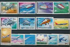 Ln45980 Mongolia aviation aircraft helicopters fine lot Mnh