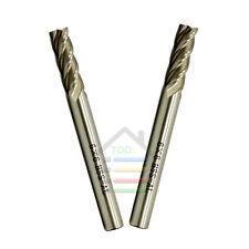 5pc 6*6mm 4 Flutes End Mill Cutter HSS Straight Shank CNC Milling Cutting