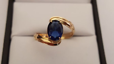 Stunning 18ct Gold Simulated Sapphire Ring