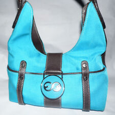 Great ESCADA SPORT Hobo Handbag - Turquoise Aqua Blue and Brown Leather -  GUC!