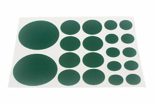 NEW ASSORTED FELT PADS SELF ADHESIVE 20 PER SHEET ( 200 sheets ) - AS SHOWN IN I