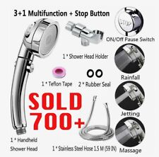 3 In 1 High Pressure Showerhead Handheld Shower Head (A COMPLETE SHOWER SET)