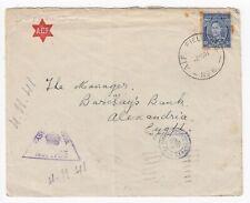 WW2 Australian ACF Cover AIF Field P.O. No.6 Julis palestine Nov 1941 to Egypt
