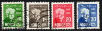 Norway Set of 4 Stamps c1932 Used (7092)