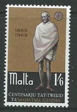 MALTA SG415 1969 MAHATMA GANDHI MNH