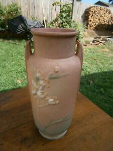 """Roseville Earlier Ixia 862-10"""" Handled Vase - Circa 1937 Ex Cond"""