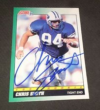 Autographed Chris Smith 1991 Score Rookie Card #316 BYU Cougars Bengals