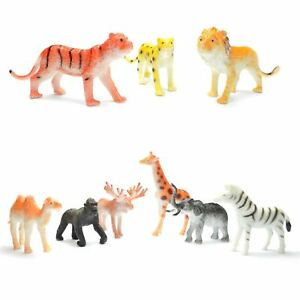 12pcs Jungle Wildlife Animal Figures Kids Birthday Party Bag Fillers Favours