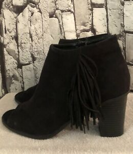 New Women/'s New Directions Largo Boots Shoes Size 6 6.5 7 7.5 8 8.5 Black