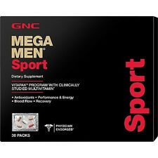GNC Mega Men sport Vitapak 30 packs 30 Days Program - Free Shipping