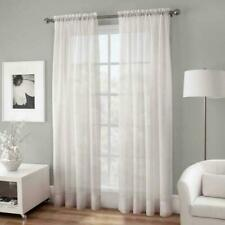 """Crushed Voile Sheer Rod Pocket - 50"""" x 95"""" Single Curtain Panel - White"""