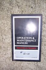 1988 Mercury 20. 25 HP Outboard Motor Owner Operation Manual SEE MORE IN STORE S