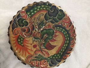 antique chinese drum