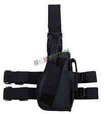 Fondina Cosciale Militare per Pistola DESTRA  - nera nero