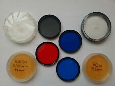 Lot of 4 52mm filters : Hoya Circular PL, 80A, 80B & 25A Excellent condition