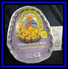 Wilton ***EASTER BASKET*** 1980 Cake Pan COMPLETE! GUC #1727