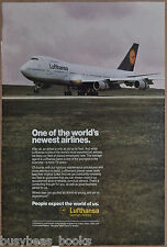 1990 LUFTHANSA advertisement, German Airlines, Boeing 747
