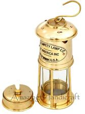 Details about  Nautical Shiny Brass Minor Lamp Wolf Safety Lamp Vintage Minor L