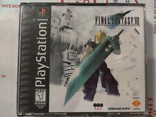 Final Fantasy VII 7  (PlayStation 1, 1997) case discs no manual black label