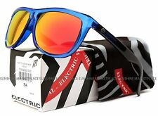 NEW Electric Tonette Sunglasses-Deep Sky Blue Black-Fire Chrome-SAME DAY SHIP!