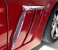 CORVETTE C6 GRAND SPORT SIDE VENT SCREENS GRILLE STAINLESS 2005-2013