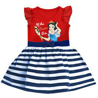 2016 Kids Princess Snow White Birthday Party Gift Baby Girls Dress 1-2-3-4-5-6T