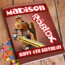 ROBLOX Personalised Birthday Card! FREE 1st Class Shipping! PREMIUM quality.