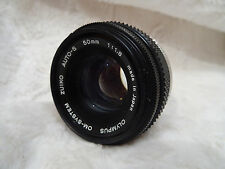 EXCELLENT OLYMPUS OM SYSTEM ZUIKO AUTO-S M/C F1.8  50 mm. made in japan ref 3