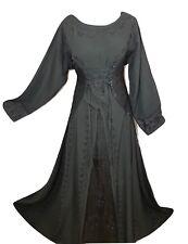 Renaissance Medieval Victorian Gothic Halloween Corset Satin Costume Maxi Dress