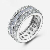 Damen Ring Zirkonia weiß 750er Gold 18 Karat vergoldet Weißgold silber R2028