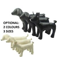 1pc PU Leather Dog Mannequins 3 Size Standing Position Pet Puppy Models Toy Shop