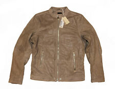 DIESEL L-RAJ BEIGE LEATHER JACKET SIZE M 100% AUTHENTIC