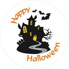 Halloween Stickers for party bags etc 35mm - Haunted House Design