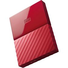 Western Digital HDD 2TB My Passport Red USB3.0 625MB/s External Hard Drive st UK