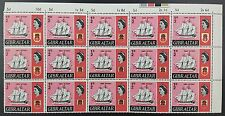 Gibraltar 1967 QE2 ½d Ships Issue SG200. Block of 15 MNH