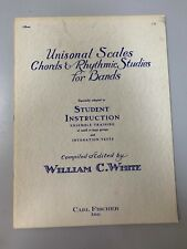 Unisonal Scales Chords & Rhythmic Studies for Bands - Student Instruction - Oboe