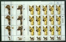 Israel 965-967, Mnh, World Dog ShowSaluki Sloughie, Canaan, Full Sheets