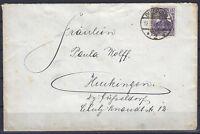 Germania Brief mit 101 und Stempel aus DUISBURG 2 vom 12.3.19