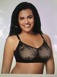 Just My Size Undercover Slimming Wire free Bra 2 Pack Black/Nude Size 38D - 50DD