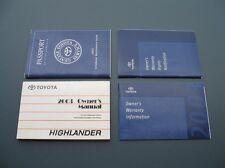 2003 03 TOYOTA HIGHLANDER OWNERS OPERATORS MANUAL BOOKS HANDBOOK GUIDE SET #14