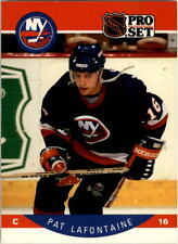 1990-91 PRO SET HOCKEY PAT LAFONTAINE CARD #186 NEW YORK ISLANDERS NMT/MT-MINT