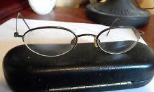 ARIZONA Oval Lense Metal Frame glasses women girls Brown 45 18 130 Semi Rimless