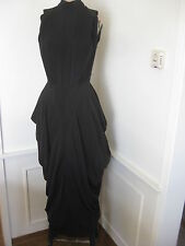 NICOLE MILLER  DRAPED GLAMOUR BLACK COCKTAIL  PARTY DRESS