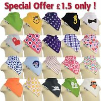 Baby Bandana Dry Bibs Dribble Catcher Fun Designs